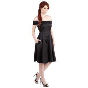 EUC Emily and Fin off shoulder black dress medium